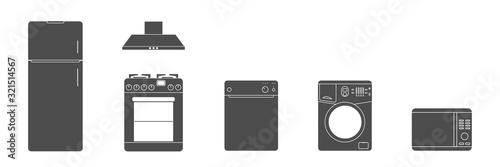 Fotografía Household Appliances icon. White Goods. Vector illustration.