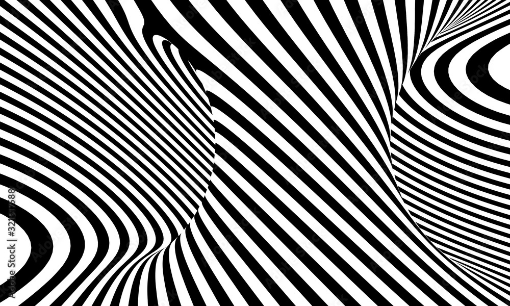 Fototapeta black and white background of an abstract spiral.