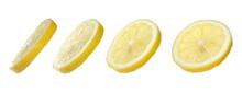 Set Slice Lemon Yellow Isolate...