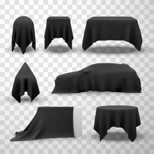 Collection Of Black Satin Clot...