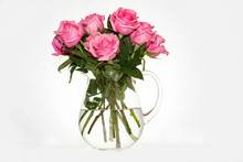 High Key Crystal Vase With One...