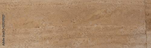 Obraz Yellow limestone tiles pool surface closeup texture background. - fototapety do salonu