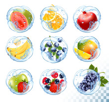 Big Collection Icons Of Fruit ...