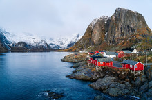 Townscape Of Hamnoy, Lofoten, ...