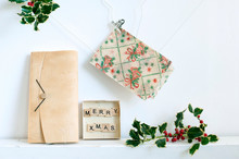 Germany, Hamburg, Handmade Retro Style Christmas Decorations