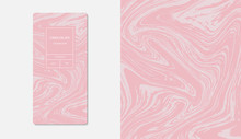 Hocolate Packaging Marble. Marble Collection Abstract Liquid Pattern Texture. Trendy Luxury Product Branding Template With Label Pattern For Packaging. Vector Design.
