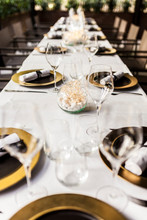 Close-up Of Laid Table In A Fancy Restaurant