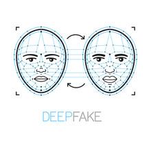 Deepfake, Deep Fake Technology Concept