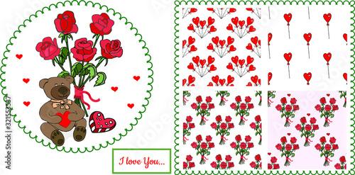 Vector floristic set Tablou Canvas