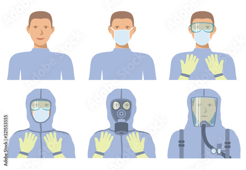 Fotografie, Obraz Personal protective equipment against biochemical threats