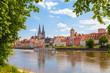 canvas print picture - Regensburg im Sommer