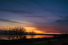 Reflection Of A Golden Sunset ...