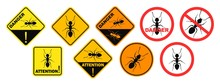 Ant Danger Sign. Isolated Ant ...