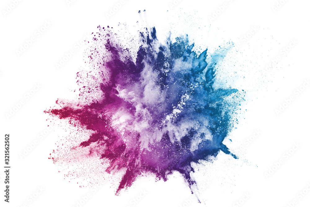 abstract powder splatted background. Colorful powder explosion on white background. Colored cloud. Colorful dust explode. Paint Holi. <span>plik: #321562502 | autor: kitsana</span>
