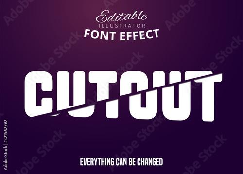 Cut Out text, editable font effect