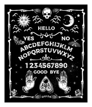Ouija Board With The Skull. Oc...