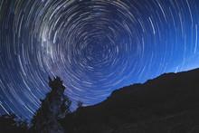 Cradle Mountain, Tasmania, Australia: Star Trails On The Tasmanian Sky