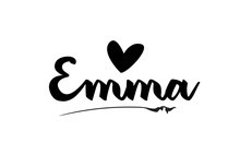Emma Name Text Word With Love ...