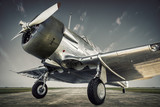 historical  aircraft on an airfield