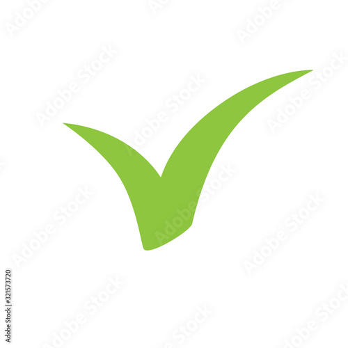 Checkmark icon. Vector symbol on white background. Wallpaper Mural