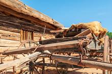 Old Wagon Near Cabin