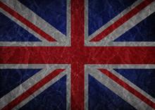 Grunge Union Jack Flag Backgro...