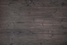 Textura De Pranchas De Madeira Escura Rústica Envelhecida Na Horizontal.