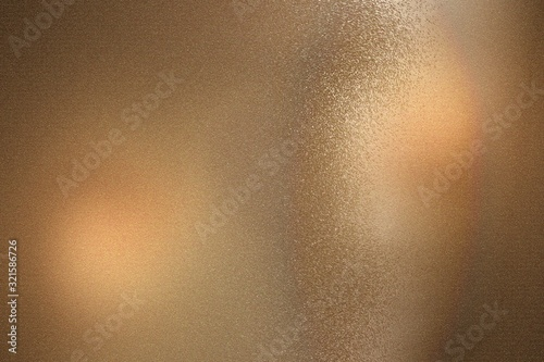 Brown foil glitter metal wall with copy space, abstract texture background Canvas Print