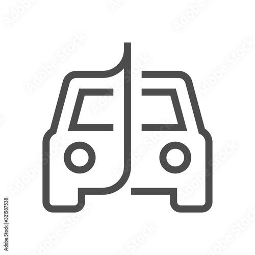 car film wrap icon Canvas Print