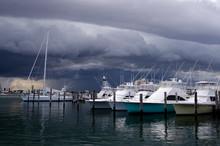 Approaching Storm At Marina