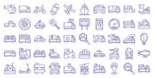 Vehicles Icon Set Design, Tran...