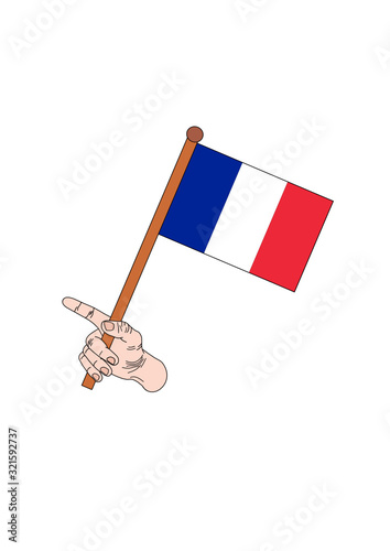 the national flag of france - 321592737