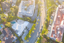 Aerial View Of Beverly Hills N...