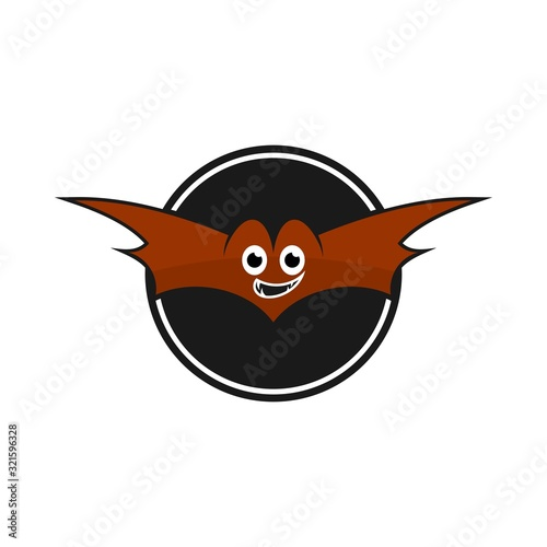 Fotografie, Tablou bat character playfull vector logo cartoon