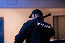 Security Guard Walking Building Perimeter
