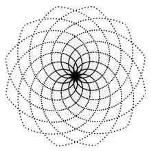 Abstract Vector Flower Geometry Design