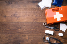 First Aid Kit With Medical Equ...
