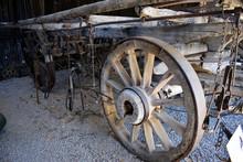 A Ancient Farm Cart Showing Wh...