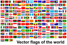 Collection Of Flags Of Countri...