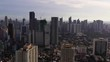 Aerial Philippines Manila Mandaluyong City September 2019 Sunny Day 4K Mavic Pro Aerial video of downtown Manila in the Philippines in Mandaluyong City district on a sunny day.