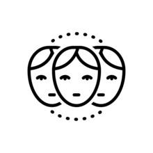 Black Line Icon For Relative