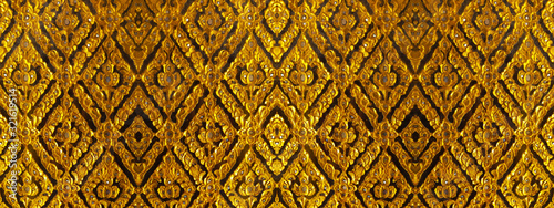 Fotografiet Vintage pattern of thai traditional style for background