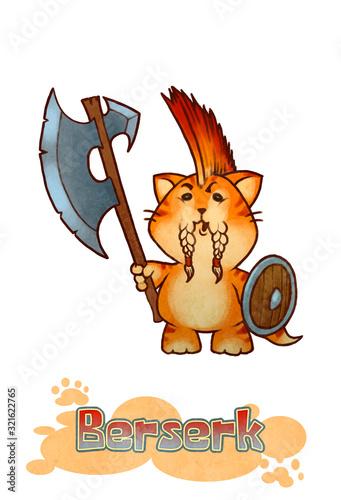 Photo Fantasy Berserk Kitten - digital illustration