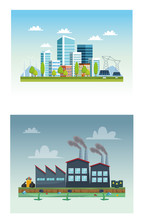 Ecology City And Industry Poll...