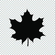 Maple Leaf Icon Flat Vector On...
