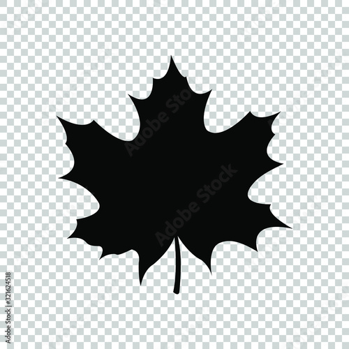 Foto maple leaf icon flat vector on transparent background
