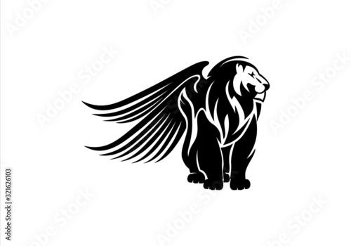 Fototapety, obrazy: lion,animal, animals, branding, cat, classic, club, elegant,lion
