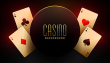 Casino Background With Four Ac...