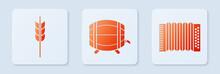 Set Wooden Barrel On Rack With...