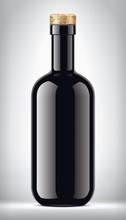 Glass Bottle On Background. Ve...